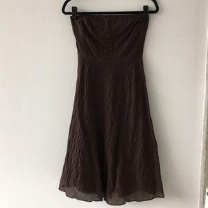 J.Crew Strapless Espresso Cotton Dress.  Size 0